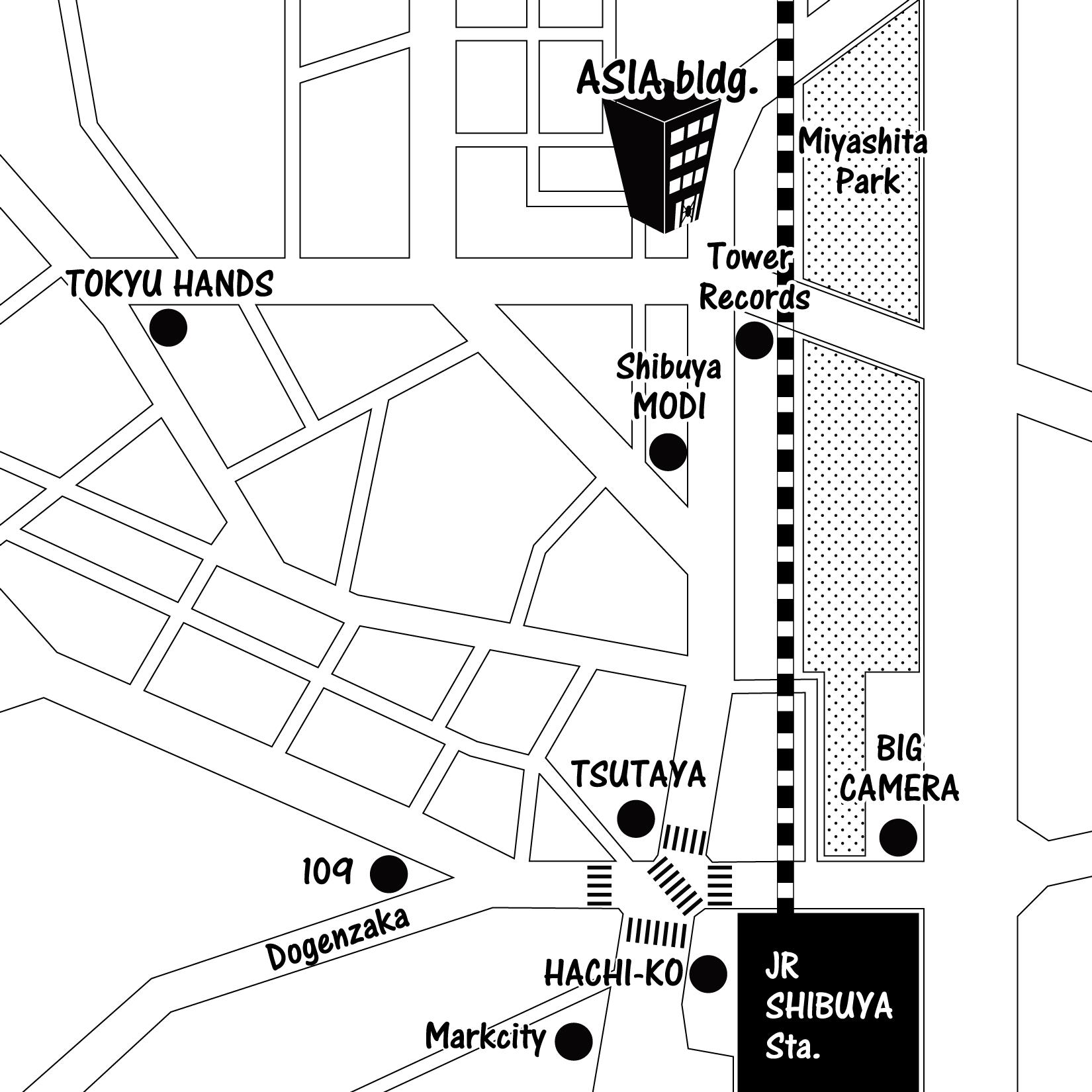 アジアビル地図